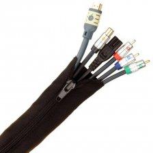 Fisual Zip Cable Tidy Wrap 30mm Diameter Black 2m