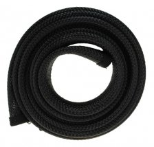 Fisual Expandable Zip Up Cable Tidy Black 2m