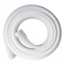 Fisual Expandable Zip Up Cable Tidy White 2m