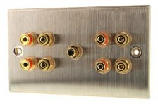 Fisual Speaker Wall Plate 4.1 Stainless Steel