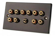 Fisual Speaker Wall Plate 5.1 Black Nickel