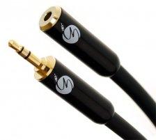 Fisual S-Flex Black 3.5mm Jack Headphone Extension Cable