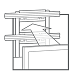 Integrated TV Mount