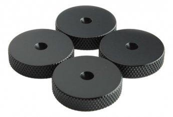 Fisual Black Speaker Spike Shoes (8 Pack)