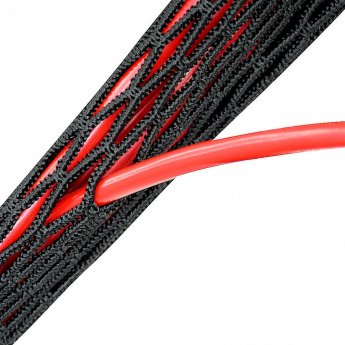 Fisual Branch-Out Zip Up Cable Tidy Black 2m