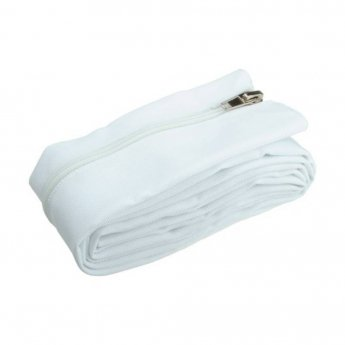 Fisual Zip Cable Tidy Wrap 50mm Diameter White 1m