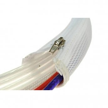 Fisual Expandable Zip Up Cable Tidy White 1m