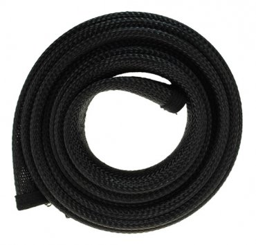 Fisual Expandable Zip Up Cable Tidy Black 1m