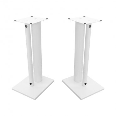 Fisual Dynami Duo Gloss White Speaker Stands 600mm (Pair)
