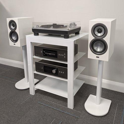 Fisual Dynami Gloss White Hi-Fi Rack
