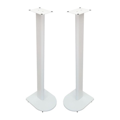 Fisual Dynami Uno Matte White Speaker Stands 900mm (Pair)