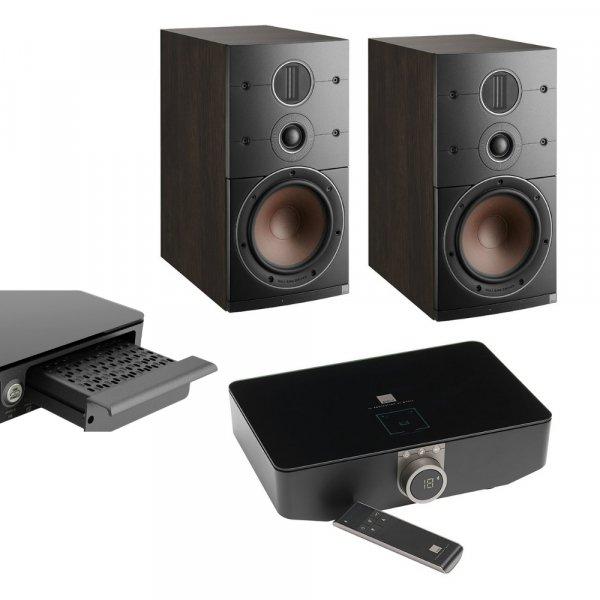 DALI Callisto 2 C Tobacco Oak Active Bookshelf Speakers (Pair) w/ Sound Hub / BluOS Module