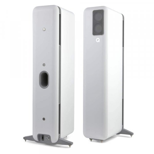 Q Acoustics Q Active 400 White Wireless System (Floorstanding Speaker Pair + Hub)