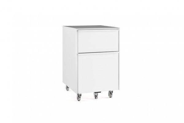Cascadia 6207 Mobile File Pedestal Smooth Satin White