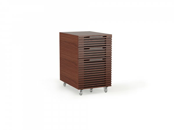 Corridor 6507 Mobile File Pedestal Chocolate Stained Walnut