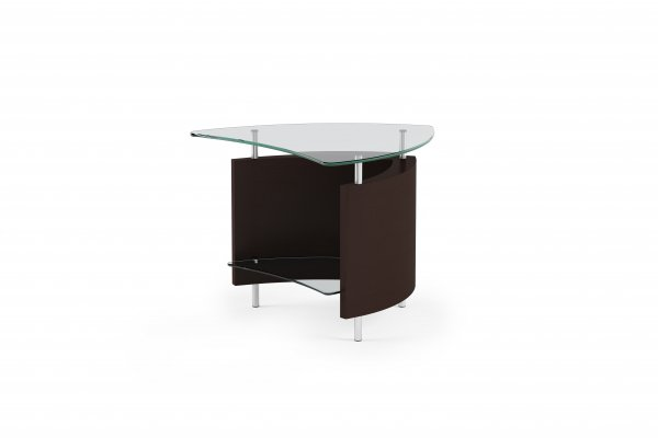 Fin 1110 End Table Espresso Stained Oak