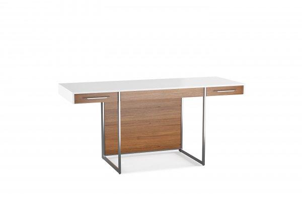 Format 6301 Desk Natural Walnut / Satin White
