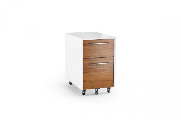 Format 6307 Mobile File Pedestal Natural Walnut / Satin White