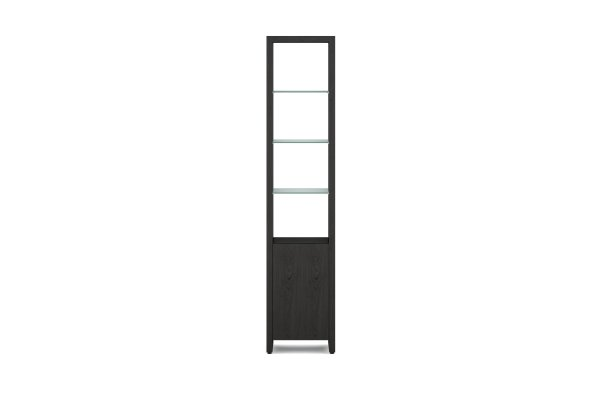 BDI Linea 5801 Charcoal Stained Ash Single Width Bookshelf Unit