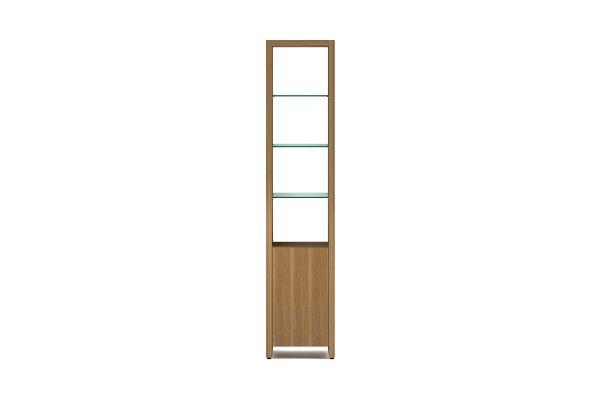 BDI Linea 5801 Natural Walnut Single Width Bookshelf Unit