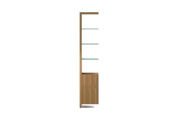 BDI Linea 5801A Natural Walnut Single Width Bookshelf Add On
