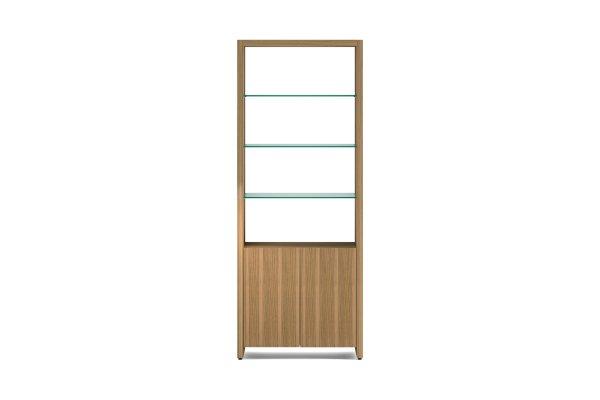 BDI Linea 5802 Natural Walnut Double Width Bookshelf Unit
