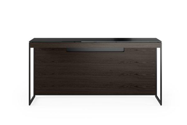 Sequel 20 6102 Console / Laptop Desk Charcoal Stained Ash w/ Black Steel Legs