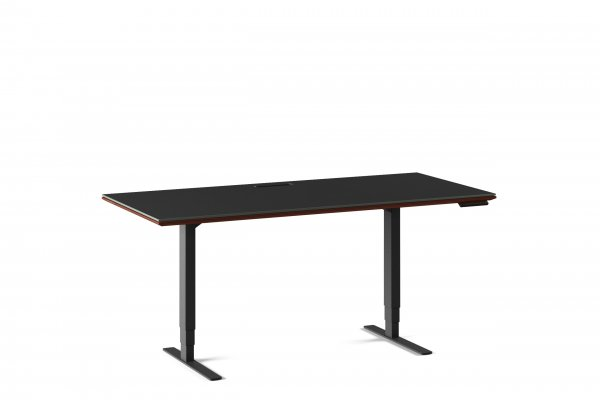 Sequel 20 6152 Lift Standing Desk Chocolate Stained Walnut