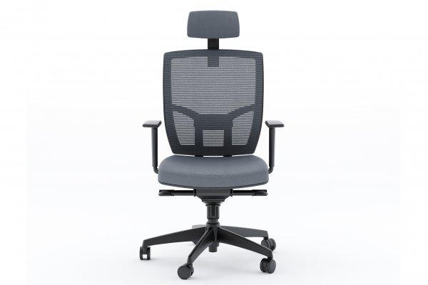 BDI TC-223 Grey Fabric Office Chair