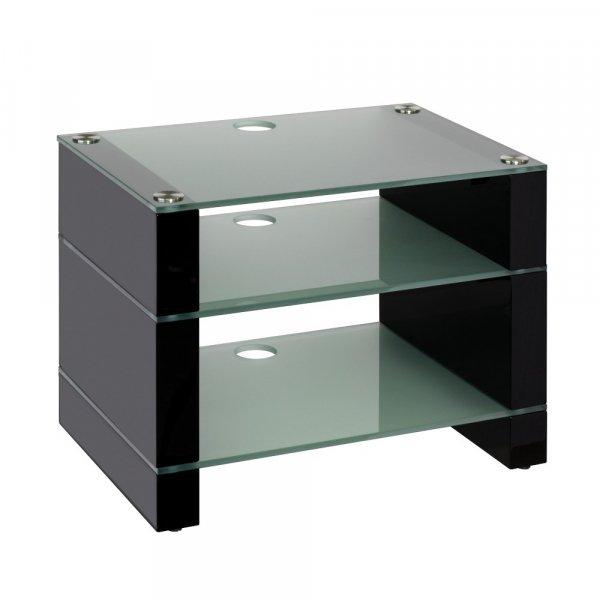 Blok STAX 450 Gloss Black 3 Shelf Hi-Fi Rack w/ Etched Glass