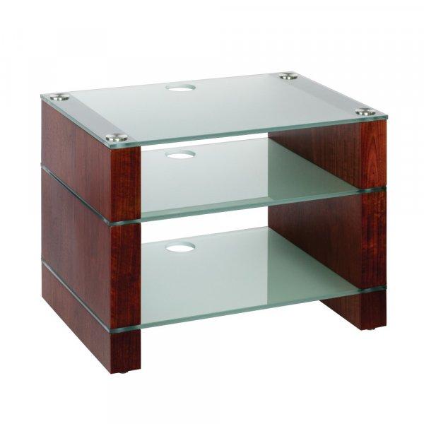 Blok STAX 450 Walnut 3 Shelf Hi-Fi Rack w/ Etched Glass