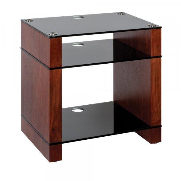 Blok STAX 600X Walnut 3 Shelf Hi-Fi Rack w/ Black Glass