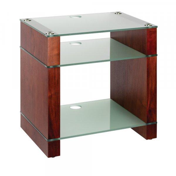 Blok STAX 600X Walnut 3 Shelf Hi-Fi Rack w/ Etched Glass