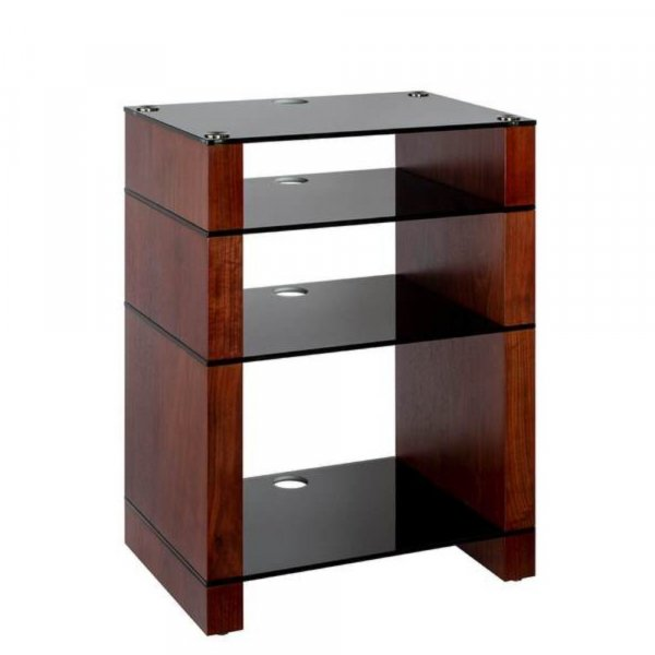 Blok STAX 810X Walnut 4 Shelf Hi-Fi Rack w/ Black Glass