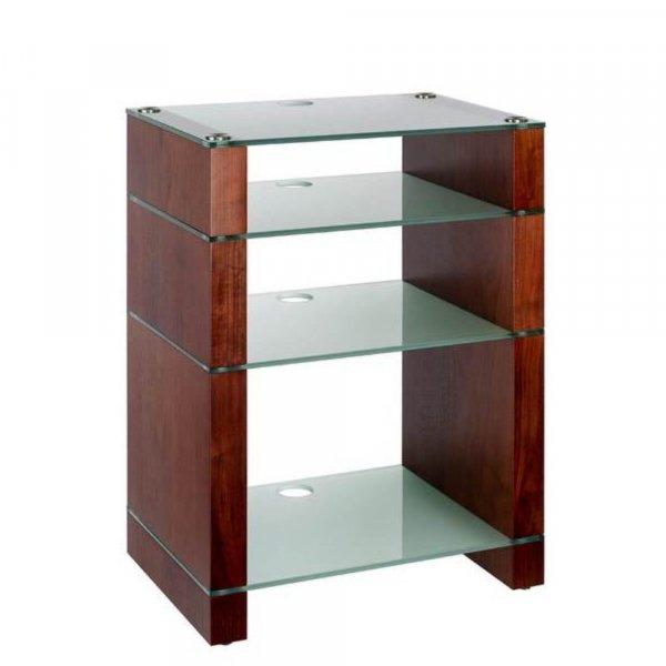 Blok STAX 810X Walnut 4 Shelf Hi-Fi Rack w/ Etched Glass