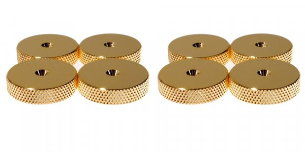 Fisual Gold Speaker Spike Shoes (8 Pack)