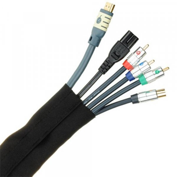 Fisual Cable Tidy Wrap 50mm Diameter Black 1m