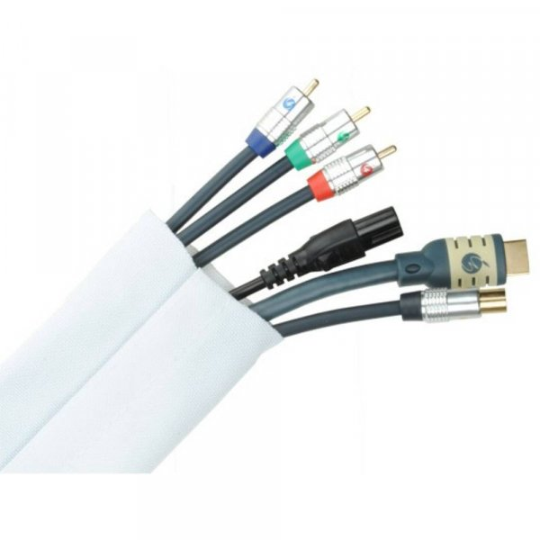Fisual Cable Tidy Wrap 50mm Diameter White 1m