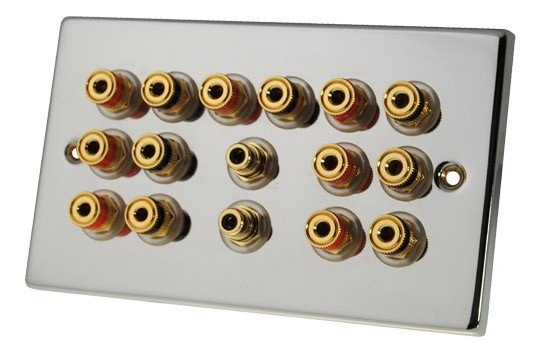 Fisual Speaker Wall Plate 7.2 Polished Chrome