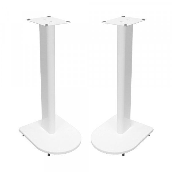 Fisual Dynami Uno Gloss White Speaker Stands 500mm (Pair)