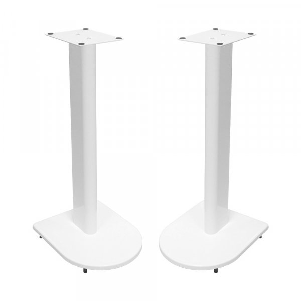 Fisual Dynami Uno Gloss White Speaker Stands 600mm (Pair)