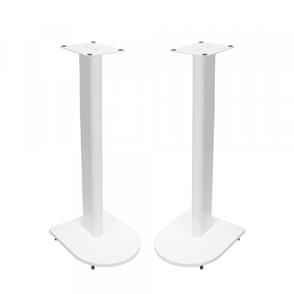 Fisual Dynami Uno Gloss White Speaker Stands 750mm (Pair)