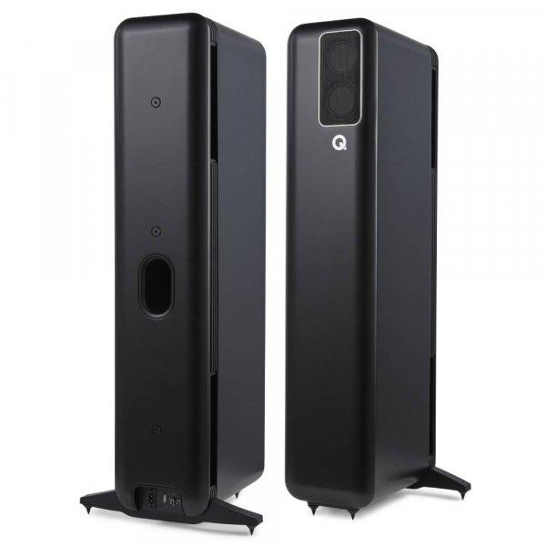Q Acoustics Q Active 400 Black Wireless System (Foorstanding Speaker Pair + Hub)