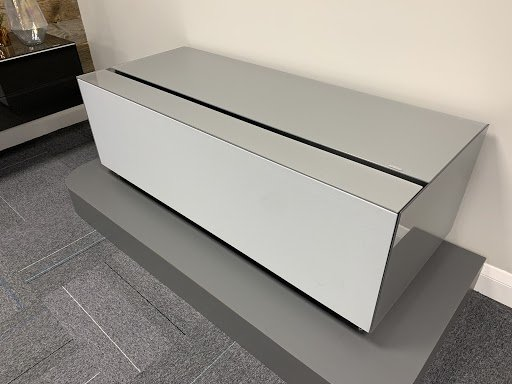 Spectral COCOON CO5 Silver TV Cabinet w/ Silver Fabric Front & Backlight