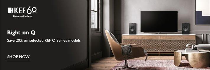 Save 20% on KEF Q150, Q350 & Q550 speakers